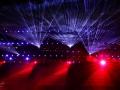 Lichtshow in Philips Stadion tijdens Glow in the Dark. Eindhoven. (november 2018)