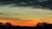 Zonsondergang boven natuurgebied de Zilk, bij de AWD. (november 2015)