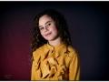 Julia (8 jaar). Oude camera fotografie. (januari 2019)